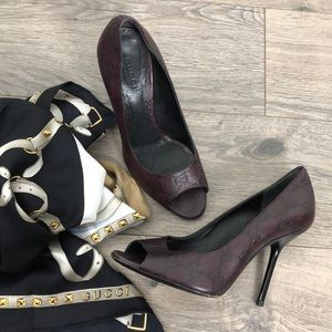 Gucci Guccissima Leather Peeptoe stiletto heels